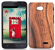 Wood Grain Pattern Leather Coated Hard Case for LG L70