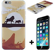 Sunset Lion King Transparent Pattern Hard with Screen Protector Cover for iPhone 6