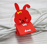 Red Rabbit Cartoon Earphone Cable Wire Cord Organizer Cable Winder