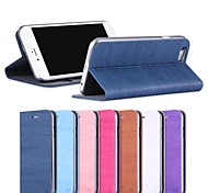 Wood Grain PU Leather Full Body Case with Strap and Sticker for iPhone6(Assorted Colors)