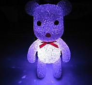 Bear EVA Crystal Color-changing Night Light