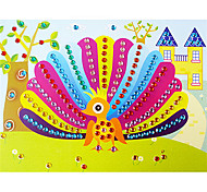 EVA Mosaic Crystal 3D Stickers Children Hand DIY Puzzle Colorful Peacock Toy