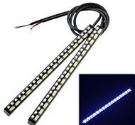 300lm dual 4.5W 40LED color de la luz blanca de la lámpara + luz diurna turno amarillo intermitente (2pcs)