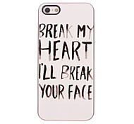 Break Your Face Design Aluminium Hard Case for iPhone 5/5S