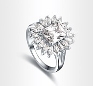 Gorgeous Fashion Jewelry  Silver plated with Zircon Rings (one piece)