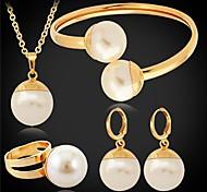 u7® grande perle sintetiche imitazione ciondolo orecchini braccialetto ring 18 millimetri 55 centimetri