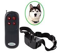 remote elektronische schok blafcontrolehalsband trainer voor hond - zwart