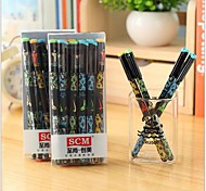 ALL Star Black Ink Gel Pen(Random Color)