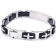 Men's Fashion Personality Titanium Steel Splicing Cross Bracelets