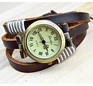 Women's Fashion Ancient Style Wicker Bracelet Watch