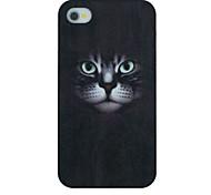schwarze Katze mustern harte rückseitige Abdeckung für iPhone 4 / 4s