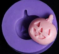Halloween Pumpkin Fondant Cake Chocolate Baking Silicone Mold,L2.8cm*W2.8cm*H0.8cm