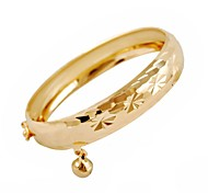 Women's Vintage Alloy Chain Fashion 18K Gold Plated Drop Ball Circle Bangles