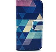 Коко fun® синий головоломки искусственная кожа полный случай тела с защитой экрана, стоять и стилус для iPhone 4 / 4s