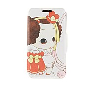 Kinston Beauty Little Girl Pattern PU Leather Full Body Cover with Stand for iPhone 6