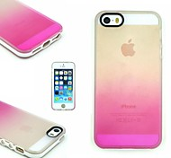 TPU+PC Two in One Transparent/Rose Gradient Back Cover Case for iPhone 5/5S