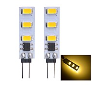 G4 1 W 6 SMD 3014 80~100 LM Warm White Bi-pin Lights DC 12 V