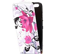 Lotus Flower Fashion Vertical Style Magnetic Flip PC+PU Leather Case for iPhone 6