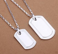 Lureme®Men's Jewelry Set Plated 925 Silver Size of fashion Brand Necklace Two-Piece