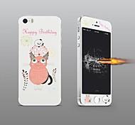 angibabe 2 in 1 geprägt rosa Katze Muster Vorder-und Rückseite Schutzfolie für iPhone 5 / 5s