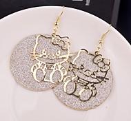 Earring Star Drop Earrings Jewelry Women Wedding / Party / Daily / Casual Alloy Gold / Black / Silver