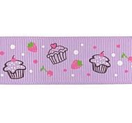 3/8 Inch Cake pattern Rib Ribbon Printing Ribbon- 25 Yards Per Roll (More Colors)