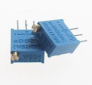 3296 potenziometro 200Kohm resistori regolabili - blu (10 pz)