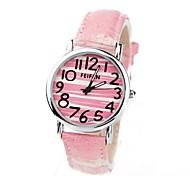 Women's Round Dial PU Band Analog Quartz Wrist Watch water-resistance (Assorted Colors)