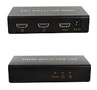 hdmi v1.4 1x2 HDMI Splitter (1 en 2) de soporte 1080p 3d