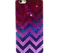 Purple Corrugated Pattern TPU Soft Case for iPhone 6