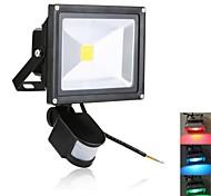 Focos de LED Sensor 20W 1900 LM K Vermelho / Azul / Verde 1 LED de Alta Potência AC 85-265 V