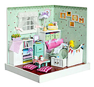 3D Handmade Wooden Dream Dollhouse with Furniture Model