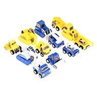 12pcs diversão para crianças de puxar para trás brinquedo mini carro construção do engenheiro