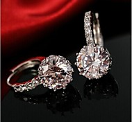 FemaleFashion Temperament Zircon Crystal Earrings