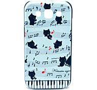 Partitur mit Katzen Muster Hülle für Samsung Galaxy I8552 Win