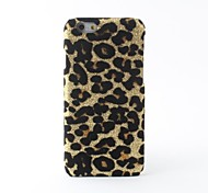 Leopard Style PVC Hard Back Case for iPhone 6