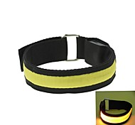 LED Light Arm Band Strap Armband Yellow (2xCR2032)