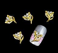 10pcs Golden Fox Mask For Alloy Accessories Nail Art Decoration