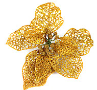 Floral Christmas Tree Ornament,Gold or Blue