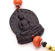 duo ji mi ebano ® grande buddha con decorazioni perline ciondolo appeso auto