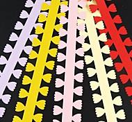 5pcs 3 centimetri x 51 centimetri petalo di carta a forma di petalo di fiore quilling set creativo fai da te di carta origami di laminazione