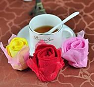 Birthday Gift Roses Shape Fiber Creative Towel (Random Color)
