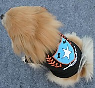 Fashionable Star Black Color Cotton T-shirt for Pet Dogs(Assorted Sizes)