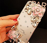 LADY®Elegant Decorated with Camellia Diamond for iPhone 4 /4S(Assorted Colors)