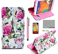 Für Kreditkartenfächer / mit Halterung / Flipbare Hülle / Muster Hülle Handyhülle für das ganze Handy Hülle Blume Hart PU - Leder Samsung