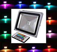 30 W 1 Integrate LED 2900 LM RGB Remote-Controlled Flood Lights AC 85-265 V