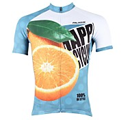 PaladinSport Men's Oranges Spring and Summer Style 100% Polyester  Short Sleeved Cycling Jersey