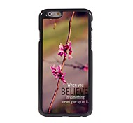 Never Give Up Pattern Aluminum Hard Case for iPhone 6