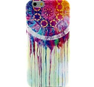 Colorful Tears Pattern Silicone Soft Cover and Mini Diaplay Stand for iPhone 6/6S
