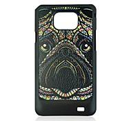 neushoorn lederen ader patroon harde case voor Samsung Galaxy i9100 s2